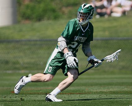 Lacrosse, Player, Sport, Stick, Game, Playing, Helmet
