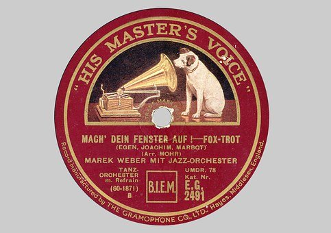 Record, Shellac Disc, Plate Label, 78rpm, Tinge, 1920