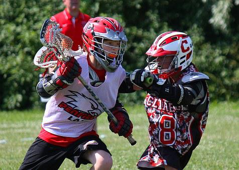 Contact Sport, Mesh, Rubber Ball, Lacrosse Ball