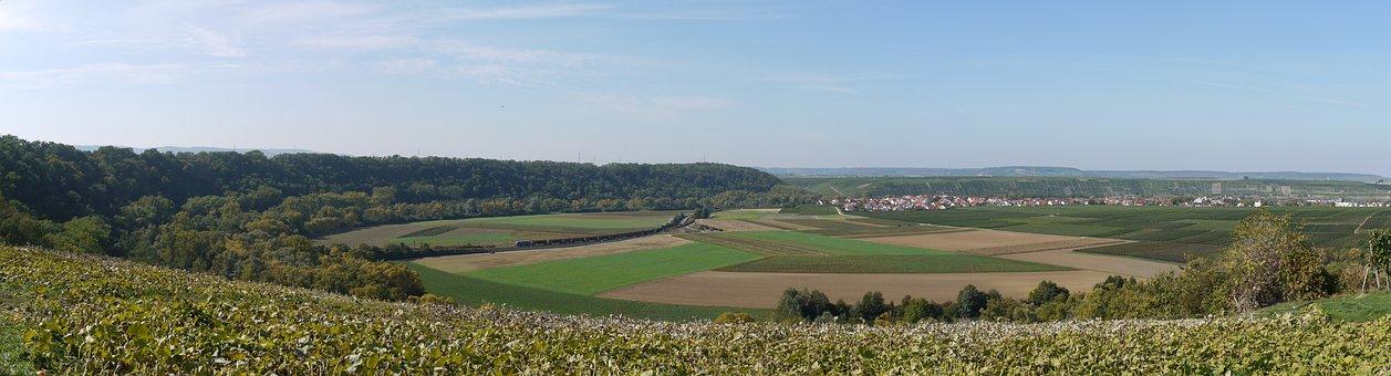 Basin, Panorama, Rural, Outlook, Green, Fields