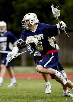 Lacrosse, Player, Action, Stick, Sport, Helmet, Playing