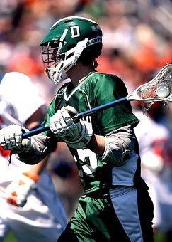 Lacrosse, Player, Stick, Ball, Sport, Game, Helmet