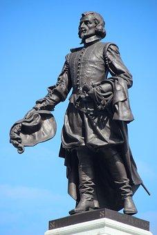 Samuel De Champlain, Quebec Founder, Statue, Canada