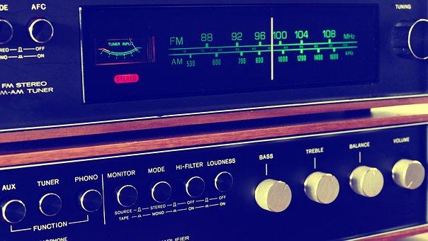 Stereo, Vintage, Music, Retro, Audio, Sound, Technology