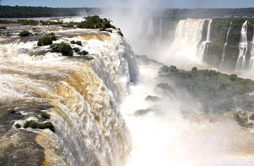 South America Waterfall, Waterfalls, Foz De Iguazu