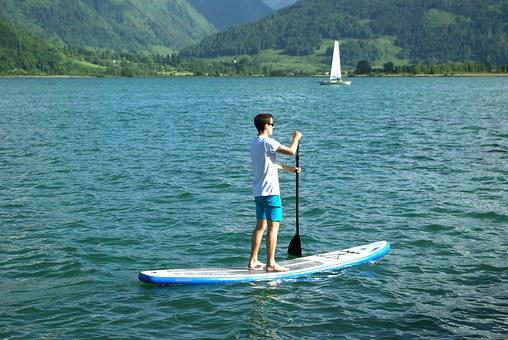 Lake, Water, Waters, Rower, Zell Am See, Pinzgau