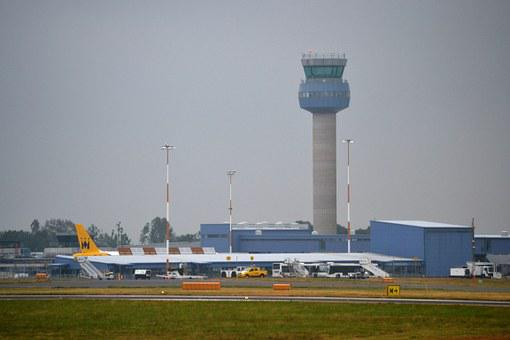 Airport, Tower, Control, Airplane, Travel, Air