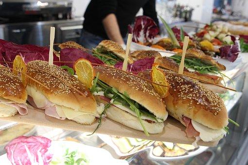 Sandwiches, Sandwich, Aperitif, Lunch, Rocket Salad