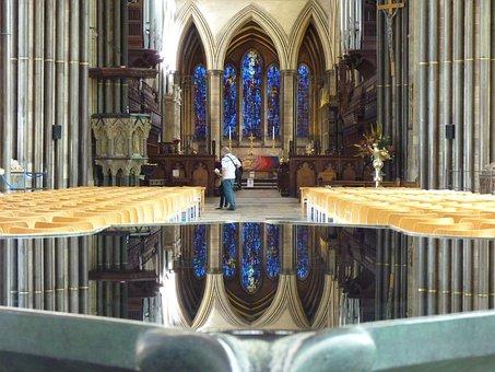 Salisbury Cathedral, Church, Baptismal Font, Water