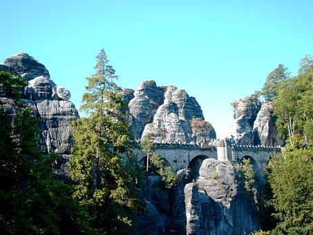 Bastei, Bridge, Rock, Elbe Sandstone Mountains