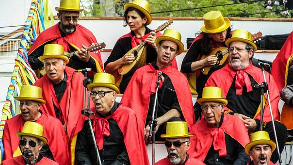 Cyprus, Limassol, Carnival, Singers, Cantata, Choir