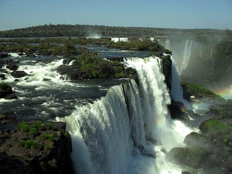 Foz Do Iguaçu, Water, Cataracts, Brazil, Nature, Paraná