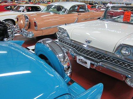 Classic Car Interior, Vintage Auto, Car, Vehicle