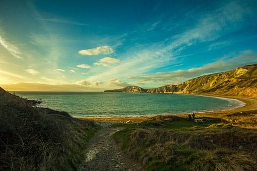 Dorset, Sea, Worbarrow Bay, Of The Sea, Shore, Country