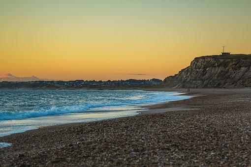 Hengistbury Head, Dorset, Beach, Seascape, Ocean