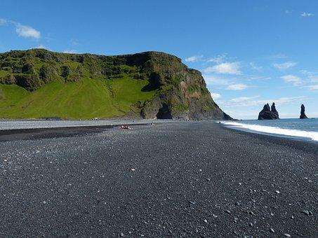 Iceland, Vik, South Coast, Basalt, Cliff, Rock, Nature