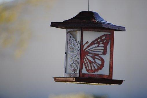 Lamp, Butterfly, Symbol, Power, Green, Idea, Design