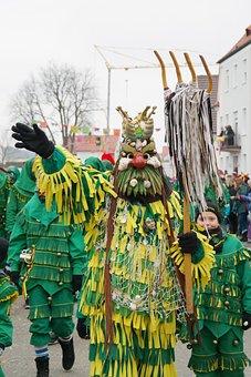 Carnival, Mask, Panel, Neptune, Sea God, Masks