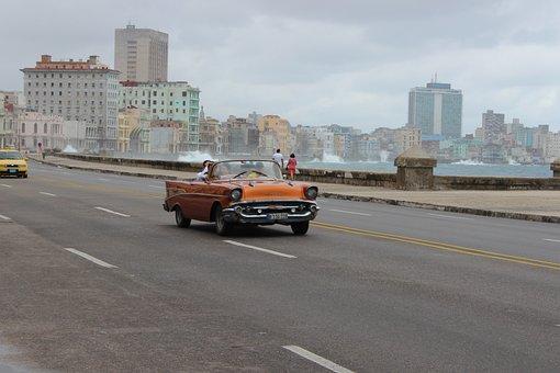 Havana, Cuba, Old Cars, Vintage, American, Caribbean