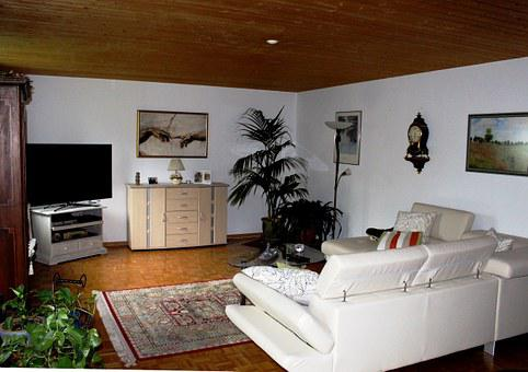 Living Room, Cozy, Relaxation, Wooden Ceiling