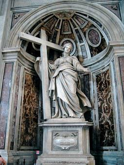 Saint Helena Statue, Rome Saint-pierre Basilica, Italy