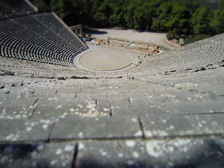 Sanctuary Asclepius, Greece, Background, Miniature