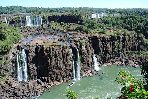 Iguazu Falls, Iguazu, Waterfall, South America, Travel