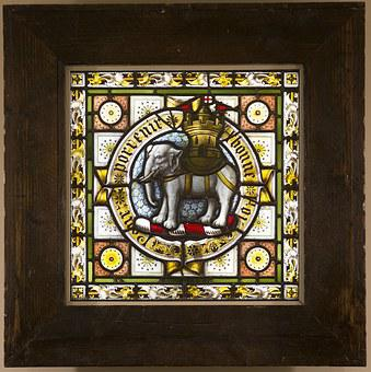 Stained Glass Windows, Salisbury, Cathedral, Elephant