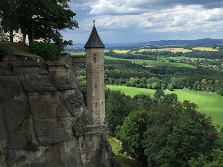 Tower, Elbe Sandstone Mountains, Landscape