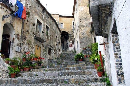 Scalea, Calabria, Borgo, Old Houses, Town, Village