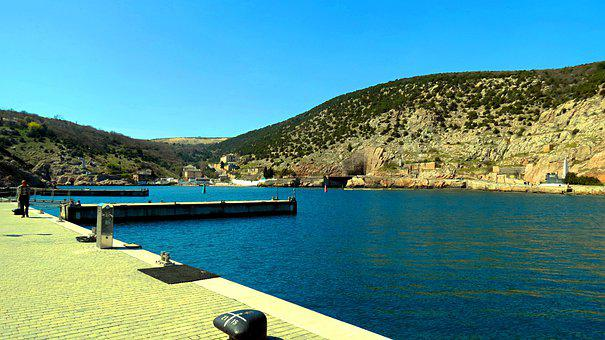 Bay, Pier, Mountains, Sea, Water, Dock, Coast, Shore