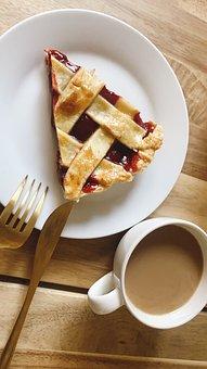 Pie, Pastry, Dessert, Flatlay, Snack, Treat, Coffee