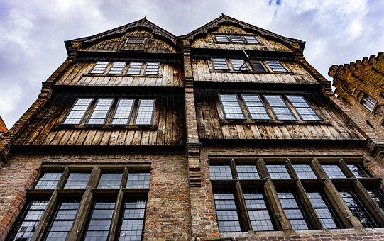 Bruges, Old Building, Facade, Belgium, Old Town