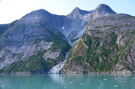 Glacier, Fjord, Alaska, Nature, Mountain, Ice, Water