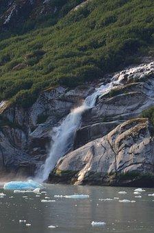 Glacier, Fjord, Alaska, Nature, Ice, Water, Inlet, Rock