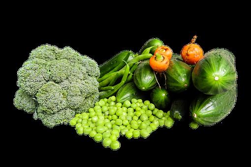 Vegetables, Nutrition, Healthy, Cutout, Broccoli, Peas