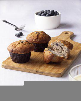 Muffins, Dessert, Snack, Treat, Baked, Pastry