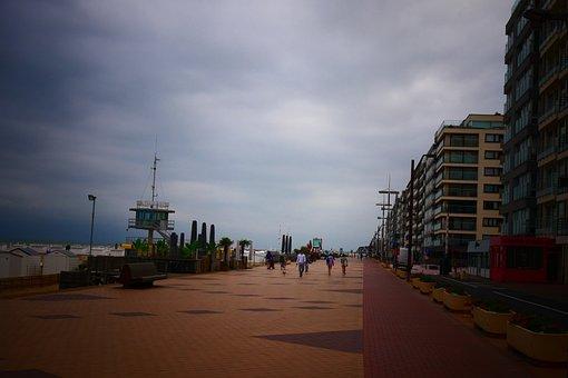 Boulevard, Pier, Walk, People, Crowd, Coast