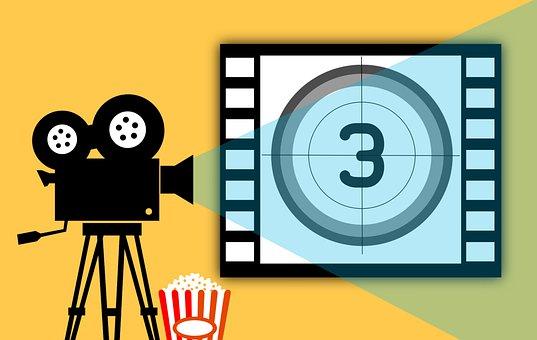 Movie, Cinema, Entertainment, Theater, Camera, Popcorn