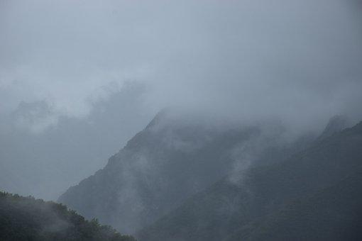 Mountain, Nature, Outdoors, Fog, Trees, Sky, Woods