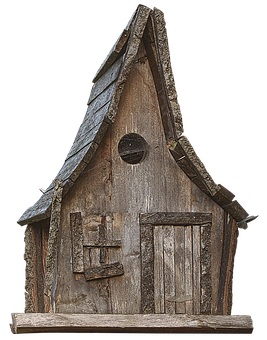 Bird House, Woodhouse, Wooden Hut, Wood, Witch's House