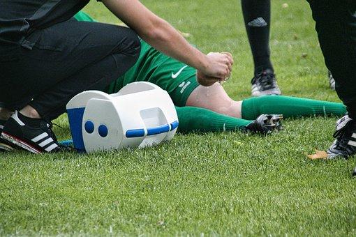 Injury, Knee, Football, Foul, Sports Injury