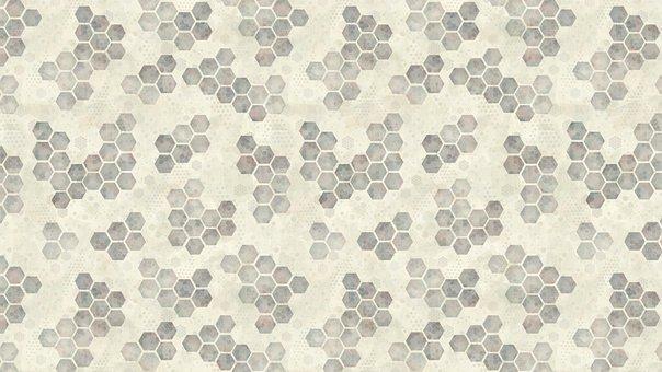 Honeycomb, Hexagon, Background, Beehive, Hive, White