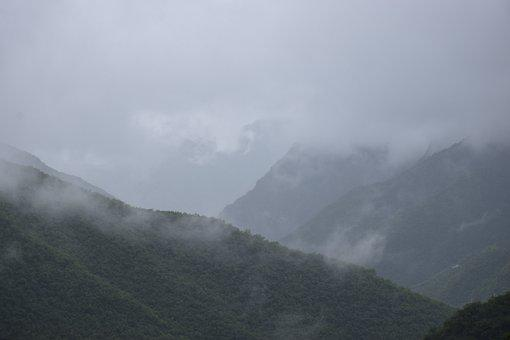 Nature, Fog, Outdoors, Mountain, Woods, Forest, Sky