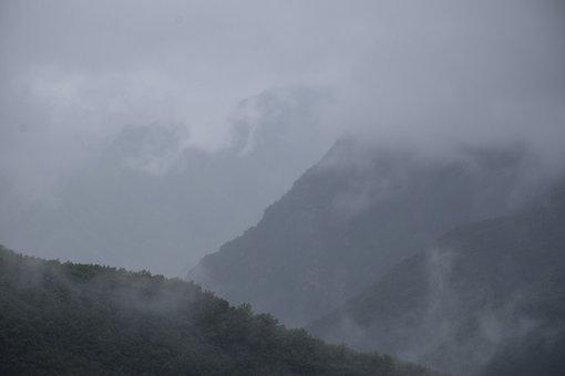 Nature, Fog, Outdoors, Mountain, Sky, Woods, Forest