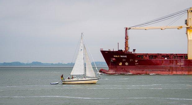 Sailing Ship, Cargo Ship, Seagoing Vessel