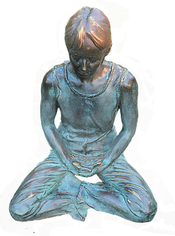 Statue, Meditation, Relaxation, Sculpture, Reflecting