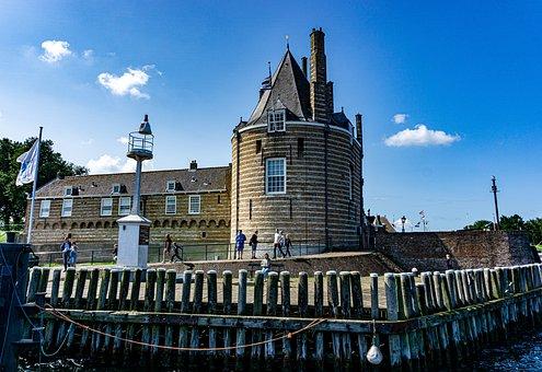 Zeeland, Dock, Watchtower, Village, Netherlands