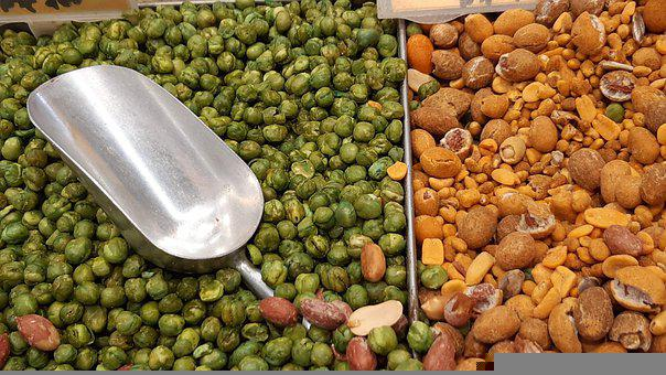 Peas, Nuts, Food, Mixed Nuts, Dry Nuts, Snacks, Tasty