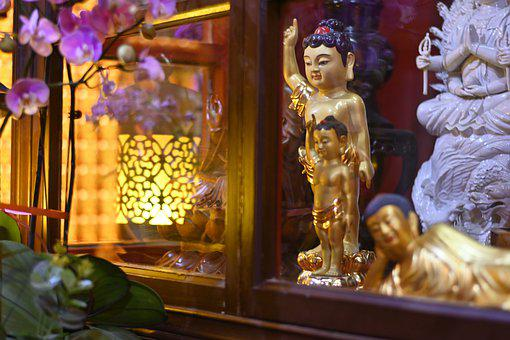 Shakyamuni Buddha, Buddhism, Temple, Statue, Sculpture